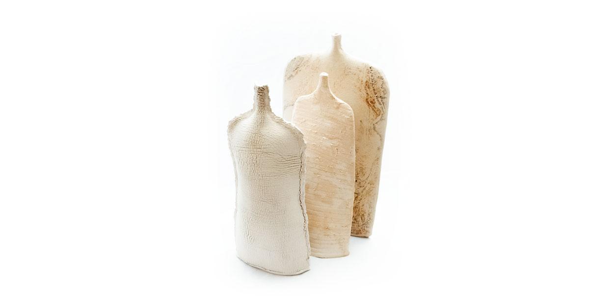 Serie Ombra Vasi scultura in Gres ispirati alla poesia di Alda Merini